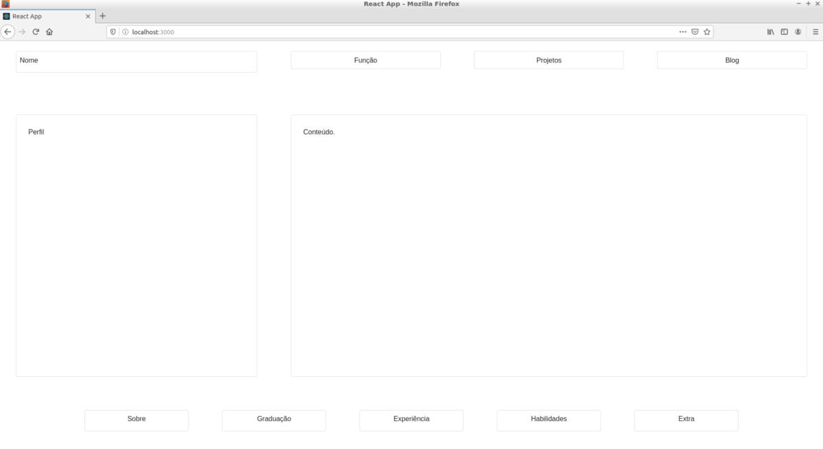 Criando o Layout de uma aplicação Web React
